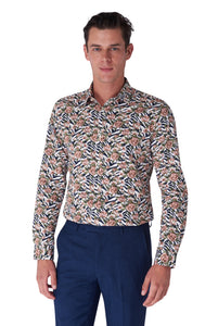 HUGO Floral & Animal Contrast Print Shirt