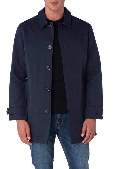 RONNIE Navy Lightweight Raincoat