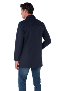 Back of RONNIE Navy Lightweight Raincoat