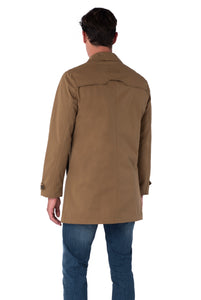 Back of RONNIE Tobacco Lightweight Raincoat