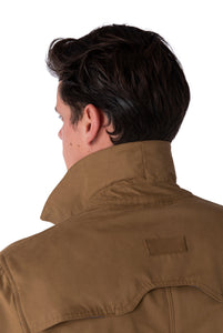 Collar of RONNIE Tobacco Lightweight Raincoat