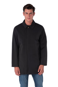 Front of RONNIE Navy Lightweight Raincoat