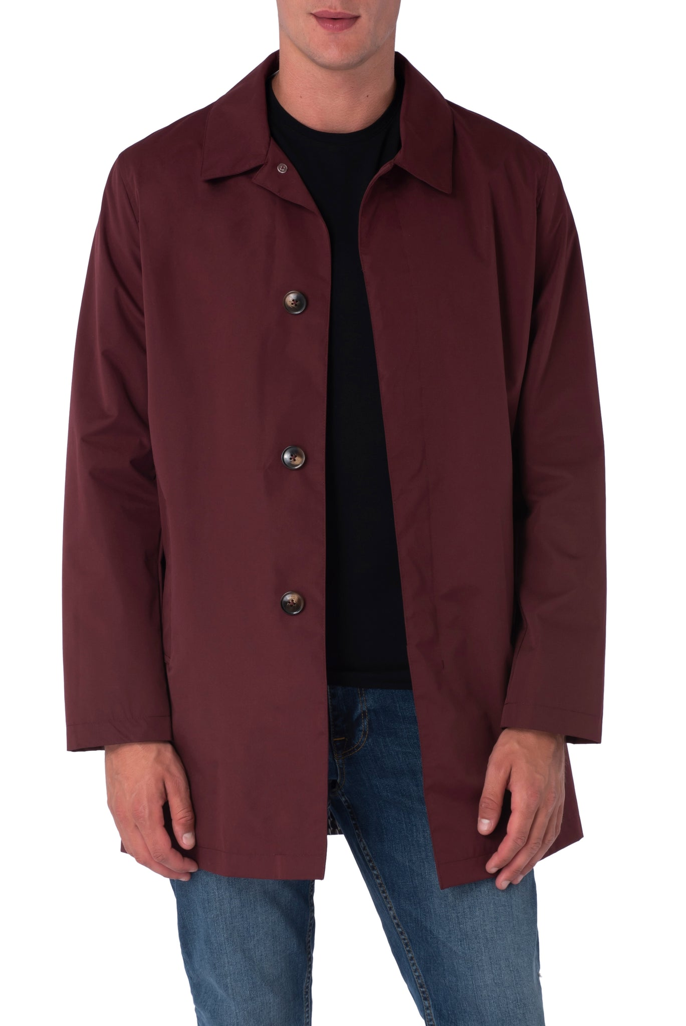 HARRISON Brick Single Breasted Trench Coat