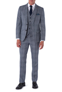JOSEPH Navy & Black Check Wool Suit