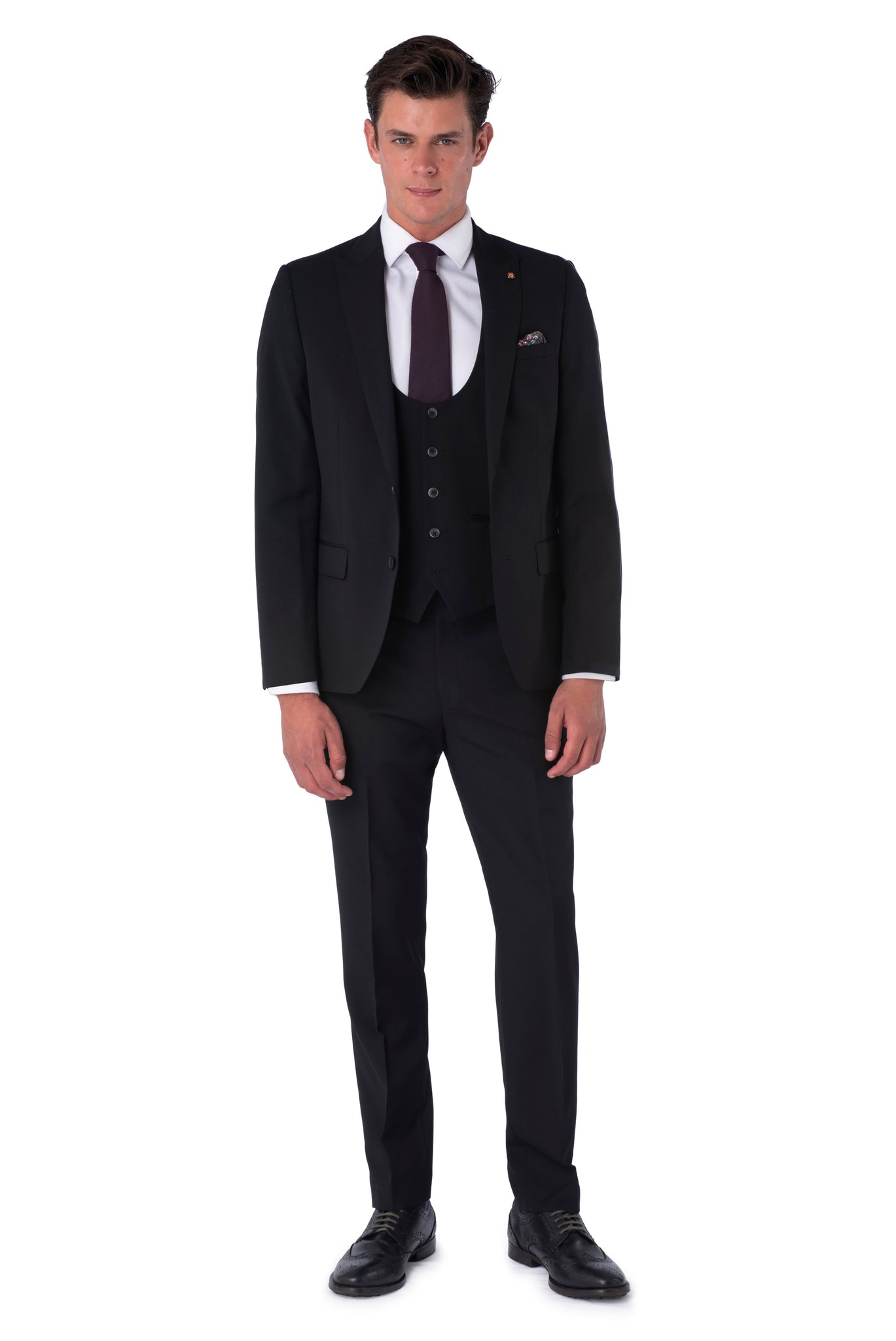 Front of Liam Black Suit
