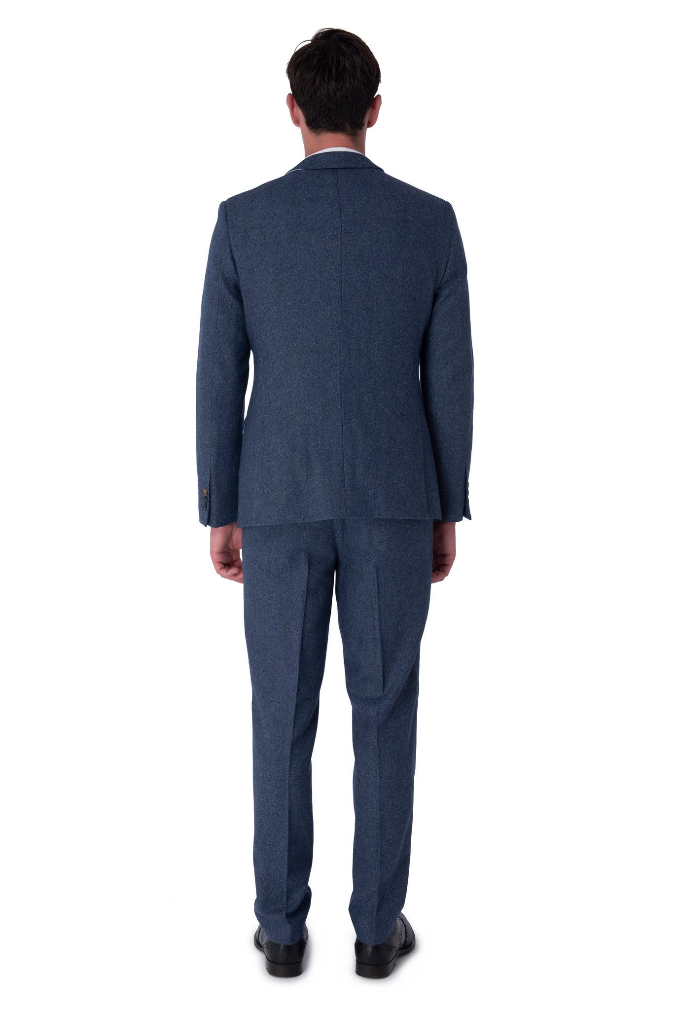 Back of MATTHEW Blue Slim Fit Wool Suit