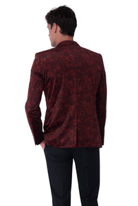 Back of Logan Velvet Blazer