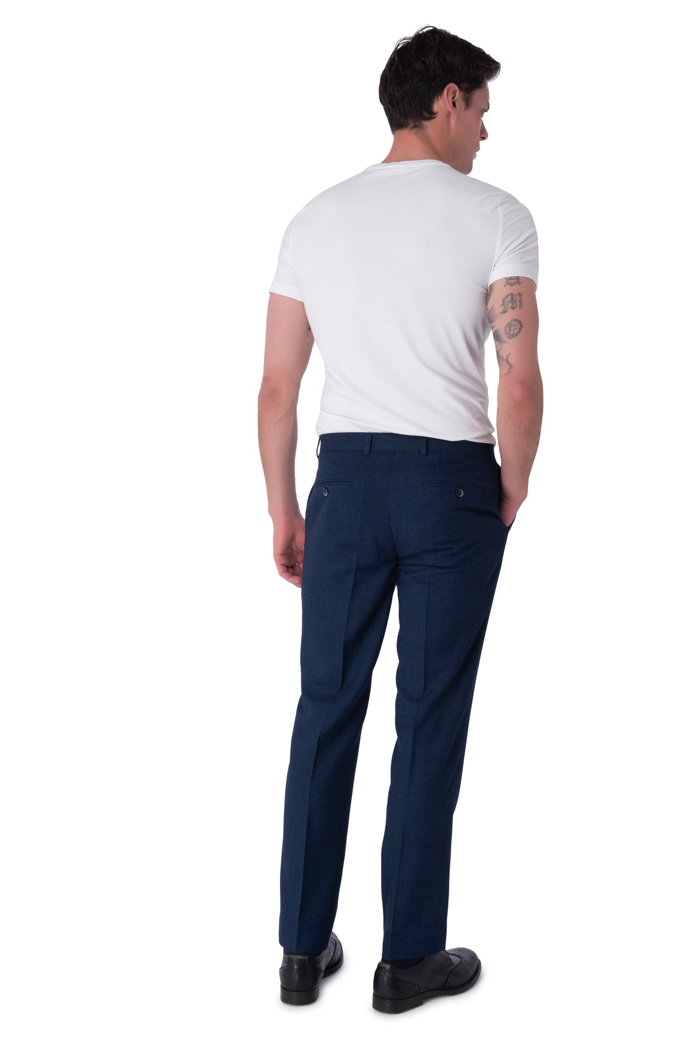Back of Oliver Navy Trousers
