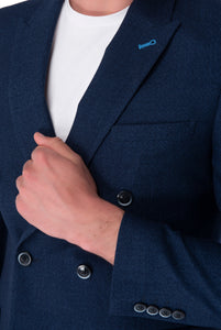 Cuff Detail of Oliver Navy Double Breasted Suit