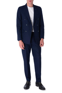 SEB Navy Pinstripe Double Breasted Suit