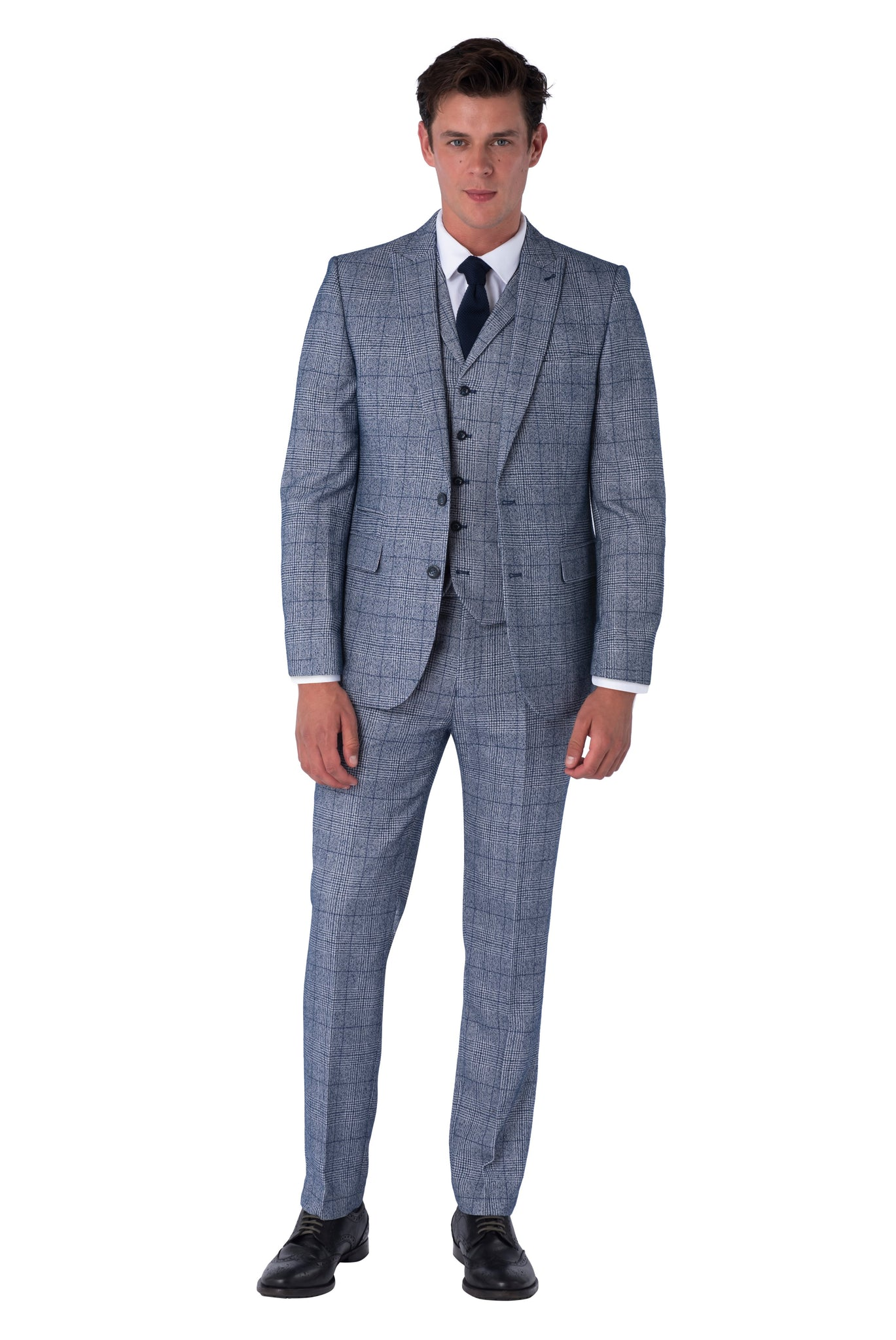 Front of Daniel Blue & Navy Suit