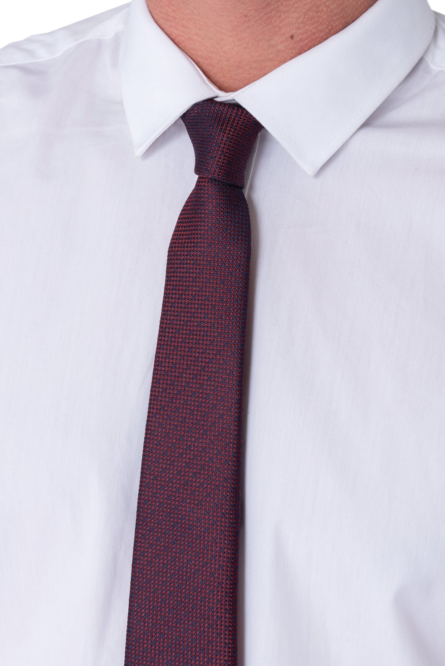 EDWARD Burgundy with Navy Spot Tie