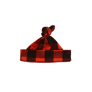 Buffalo Plaid Newborn Hat