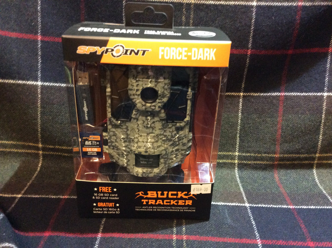 SPY POINT FORCE- DARK BUCK TRACKER TRAIL CAMERA