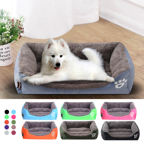 Dog Bed Waterproof Bottom For Small Medium Large Dogs Pet Dog House Warm Cotton Puppy Cat Bed For Dog Bed Pet Supplies