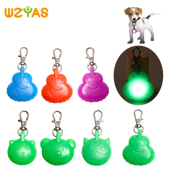 Plastic Led Dog Collar Pedant Night Safety Luminous Glow In The Dark Animal Shaped Dog Accessories Dog Light Pedant Cat Suppy