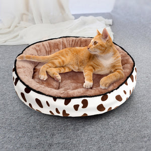 Soft Warm Plush Pet Sleeping Bed House For Cat Puppy 5 Sizes