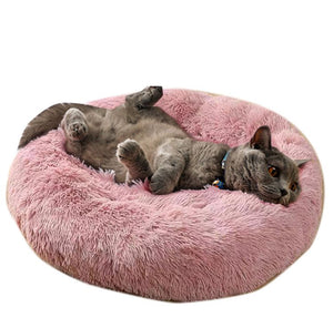 Soft Warm Round Pet Cat Bed Comfortable Pet Nest Dog Cat Washable Kennel Easy To Clean Dog Bed Warm House For Pet Dog Cat