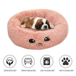 Soft Warm Round Pet Cat Sleeping Bed Comfortable Pet Nest Dog Cat Washable Kennel Winter Pet Kennel For Small Medium Dogs S/M/L