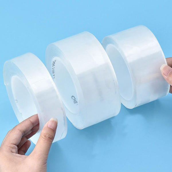 Transparent Magic Nano Tape - Cinta Adhesiva Washable Multifunction Double Sided Nano Tape Home Supplies Acrylic Reusable Double