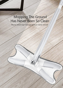 Microfiber floor mop with 3 cloths replace Hand-free and Manual Extrusion Household Cleaning Tools