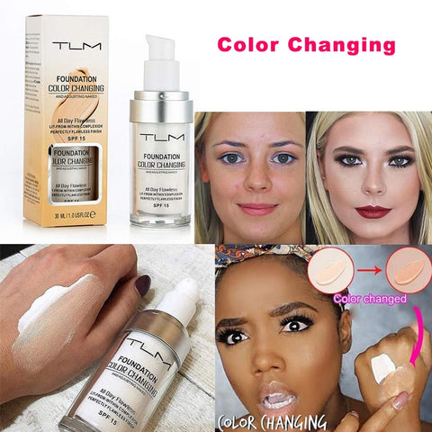 Hot!!! TLM Brand Color Changing Foundation SPF 15