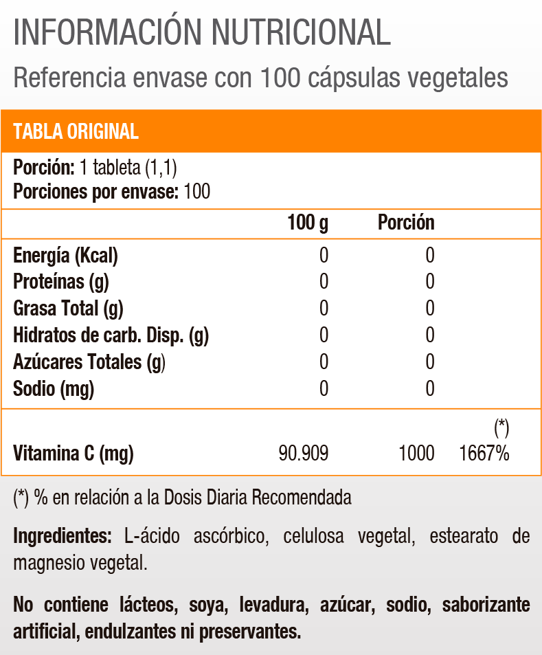 VITAMIN C 1000 MG 100 VEGI CAPS