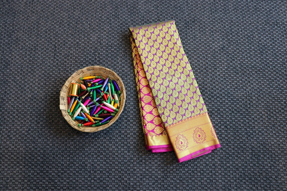 Majenta colour dharmavaram silk saree