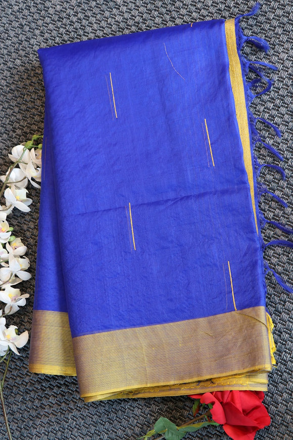 Blue colour banaras  kora silk saree with elegant design