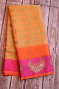 Organza saree with jewelry motifs on the border