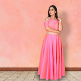 Onion pink raw silk suit