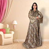 Digital print tussar silk suit
