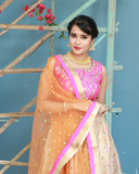Banaras fancy silk lehenga with ikkat weaving