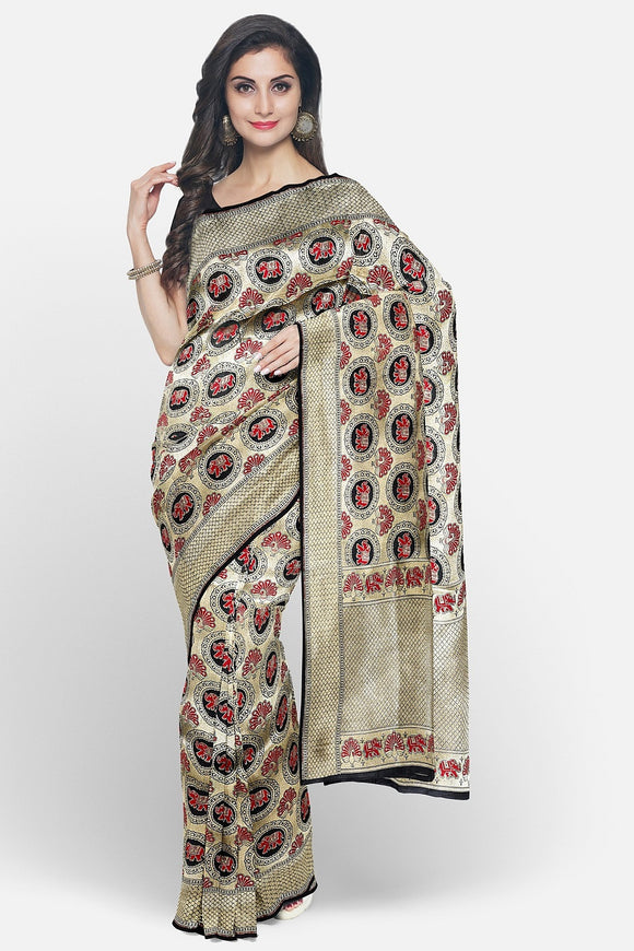 Banaras silk saree with full zari weaving