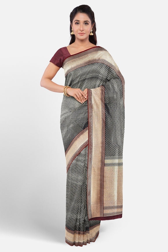 Banaras fancy silk saree with full zari weaving