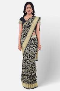 Black colour banaras saree