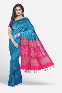 Soft silk saree with silk line weaving