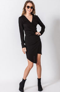 ASYMETRICAL LONG SLEEVE BODYCON DRESS