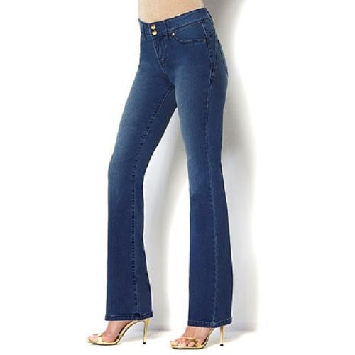 STRETCH BOOTCUT SIDE-STRIPE PONTE JEANS