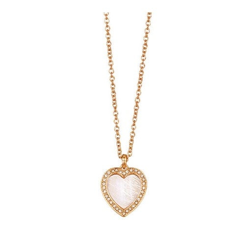 HEART SHAPED SIMULATED SHELL MOTIF NECKLACE