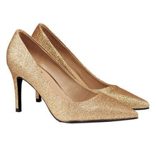 HIGH HEEL SEQUIN PUMPS