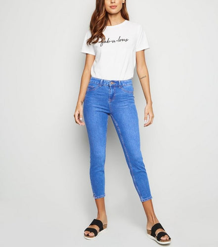 CLASSIC FIT SKINNY CROPPED JEANS