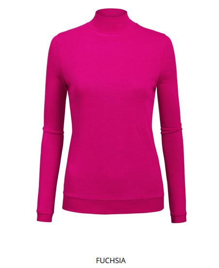LONG SLEEVE MOCK NECK TOPS $5.00