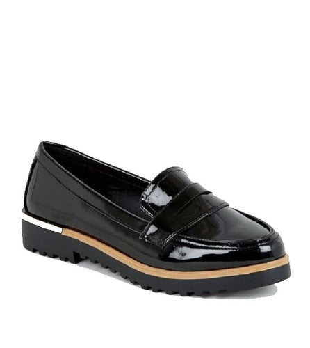 PATENT LEATHER PENNY LOAFERS