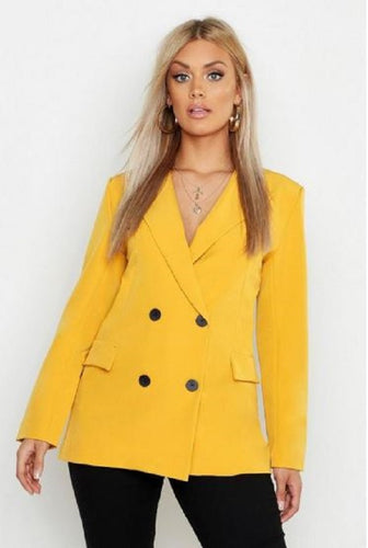 PLUS SIZE OVERSIZED DOUBLE BREASTED BLAZER