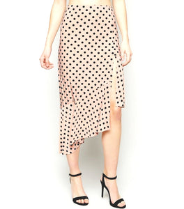 TWO PIECE POLKA DOT CROP TOP SKIRT SET