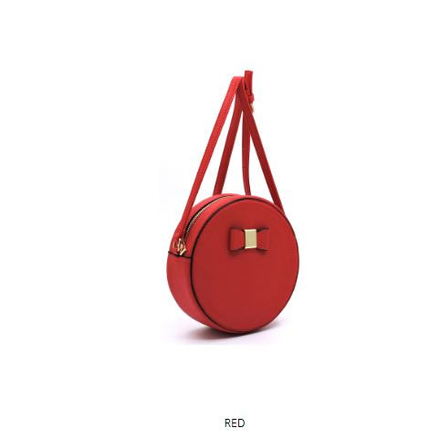BOW DETAILED ROUND SHOULDER BAG
