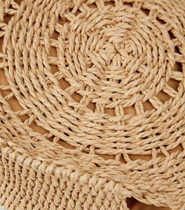 ROUND STRAW DESIGN HANDBAG