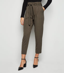 SLIM LEG PAPER BAG WAIST PANTS