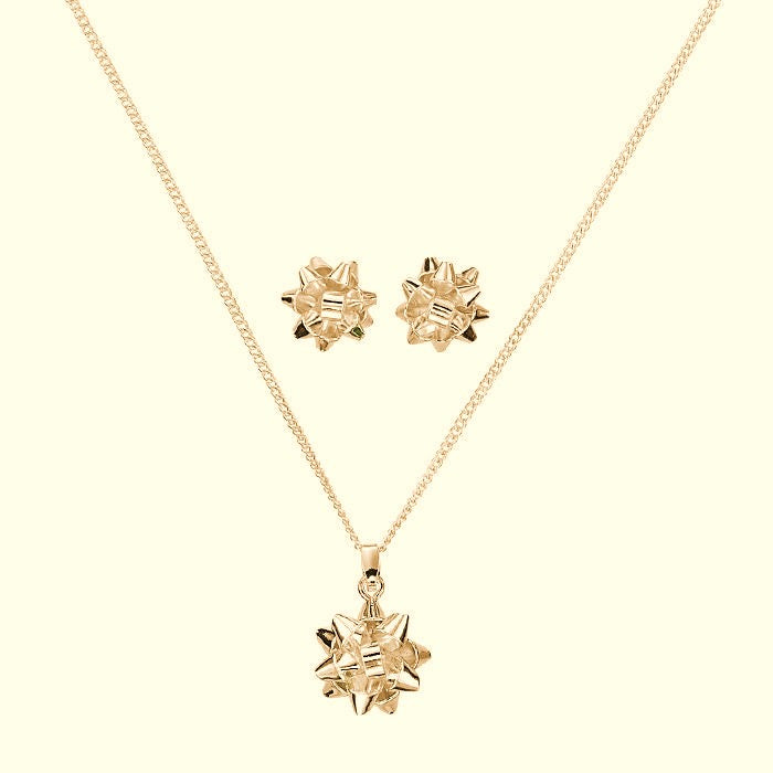 SPARKLING BOW NECKLACE SET